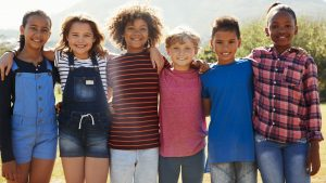 group of healthy children
