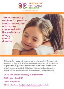 Click to join the monthly webinar for parents and parents-to-be.